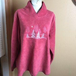 North Crest Women's Fleece Top Large Embroidered!!